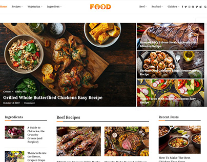 Food Blog wordpress website
