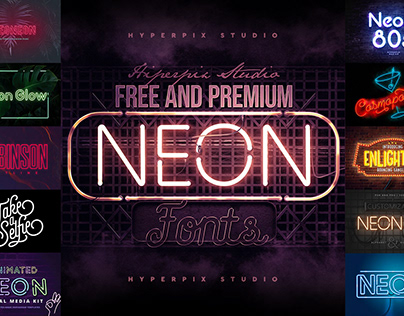 Best Neon Fonts Collection