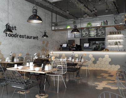 Light Industrial style Restaurant in kSA