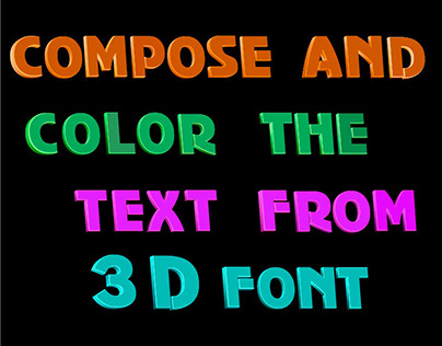 Text constructor from 3D font.