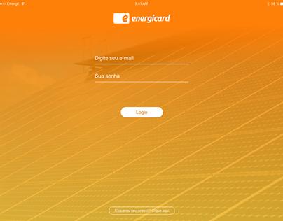 UI Dashboard Energicard (2018)