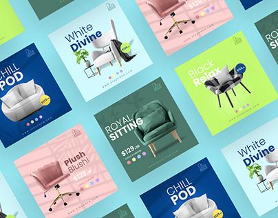 Social Media Post Design for Instagram Facebook Twitter