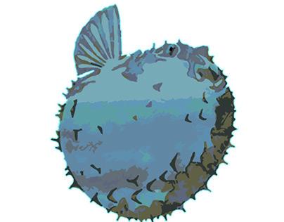 Japanese Blowfish Illustration
