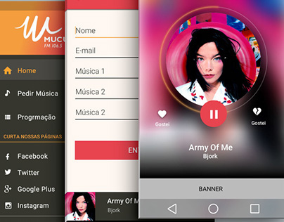 UX/UI Design - Aplicativo Mucuripe FM 106.5