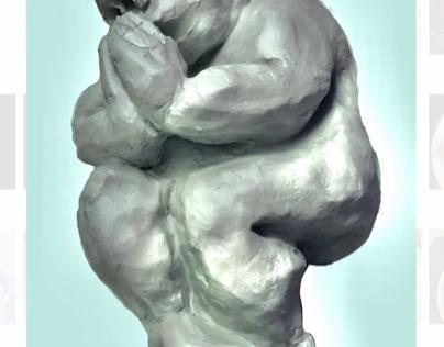 Father Goddess 13 cm clay figurine