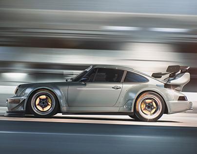 Porsche 964 RWB CGI