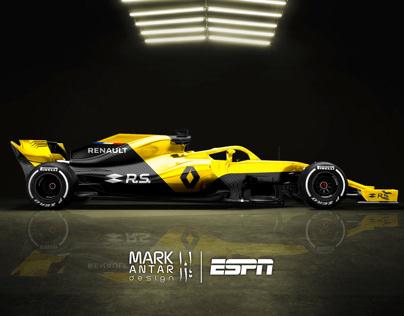 2020 F1 Concept liveries for ESPN F1