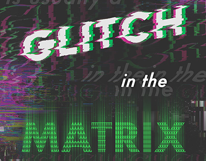 Matrix Typography Glitch Poster