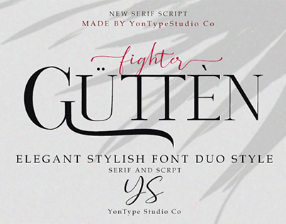 Gutten fighter Font Duo w/ Bonus 6 Logos