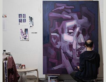 de-touch II canvas   URBAN NATION