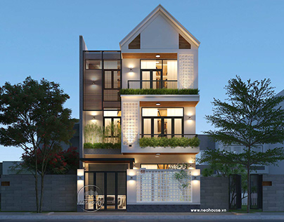 Mẫu thiết kế biệt thự đẹphiện đại 3 tầng độc đáo