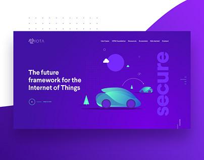 Iota Foundation website concepts.