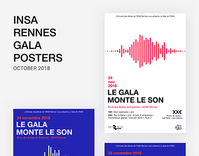 INSA Gala posters