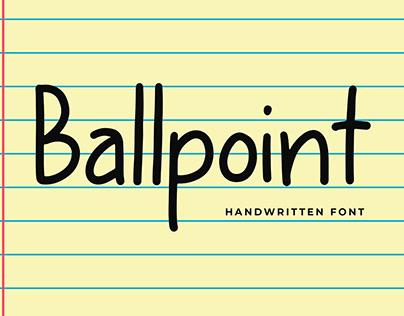Ballpoint Modern Display Font