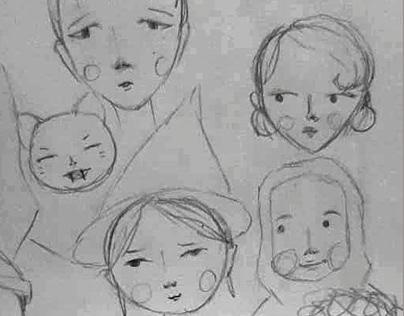 Diseño de personajes, curso Ilustración Editorial, 2021