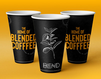 Blend Coffee Shop. Brand Identity