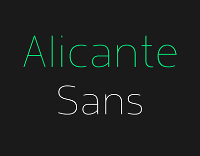 Alicante Sans Font Family of 16 Fonts