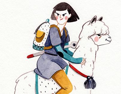Alpaca Traveller / Illustration