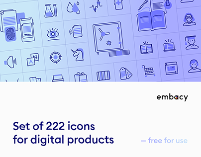 222 free icons for digital products — figma link