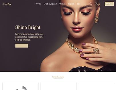 Jewelry website mockup