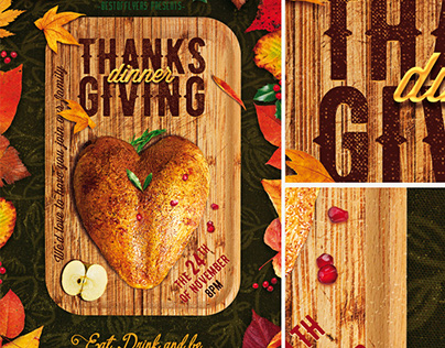 Thanksgiving Dinner Poster & Flyer Template