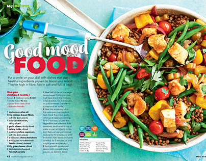 Main Meals Healthy Food Guide Magazine On Behance