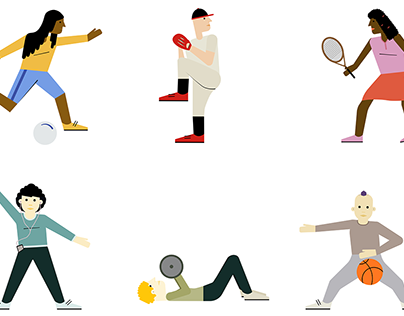 Sports Spot Illustrations