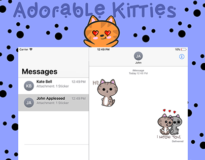 Adorable Kitties Imessage Sticker Pack