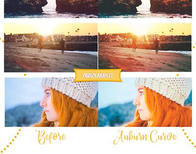 "Free Photoshop Curve & LUT ""Auburn"""