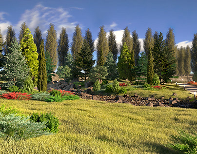 Park Landscape 3D Visualization
