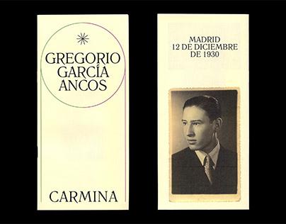 Carmina - Gregorio García Ancos (Poemario / Poetry)