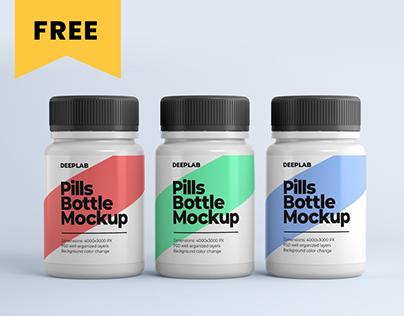 Medical Pill Bottle Mockup - FREE