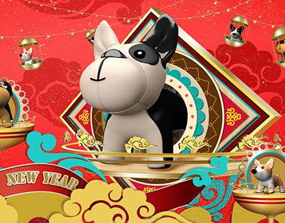 Hangzhou Grandcanalplace CNY Deco
