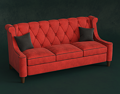 SOFA RED | 3d modeling & visualization