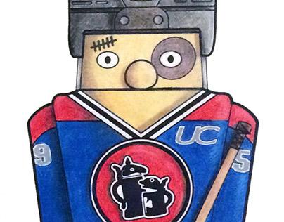 Hockey Player Beer Stein Design