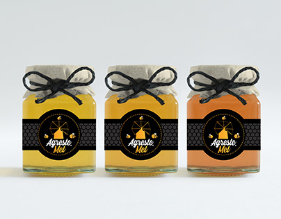 Rótulos de embalagem de mel