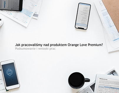 Orange Love Premium - design sprint