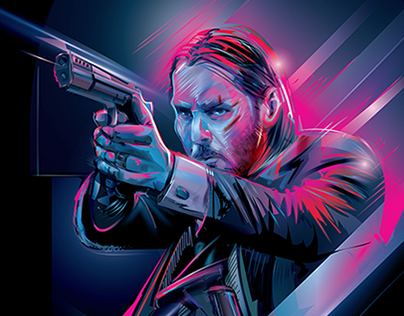 JOHN WICK 2- Vector Tribute * Charitable Print Sell