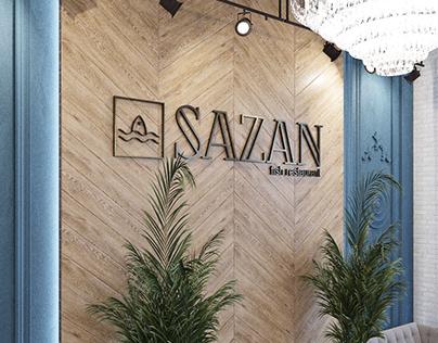 "Ресторан ""SAZAN"" - интерьер, 1-й этаж"
