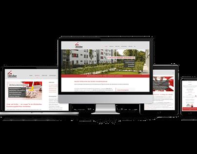 Responisive Website für Stricker Immobiliendienste