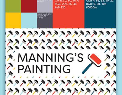 Manning's Painting Logo