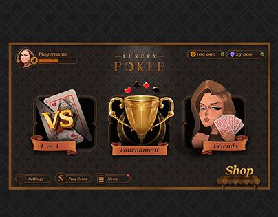 Luxury Poker UI