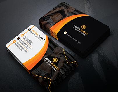 Gym fitness business card on behance colourmoves