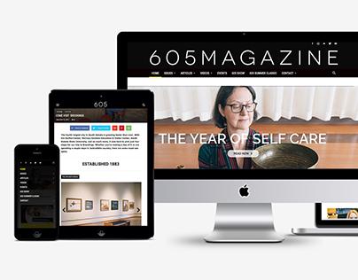 605 Magazine Website Redesign