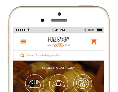 Home Bakey mobile version