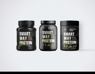 New Modern Gym Powder Bottle Label Mockups