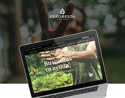 Diseño web Asociación Reforesta