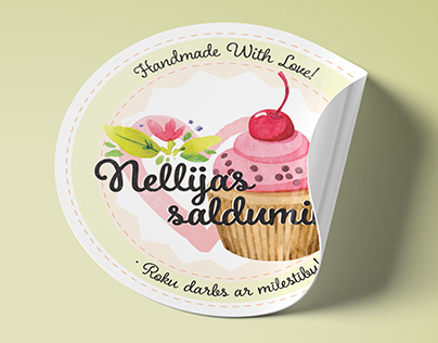 Sticker Designs for Baking Business