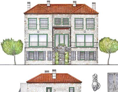 house facade illustration