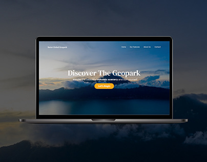 Batur Global Geopark Website Concept